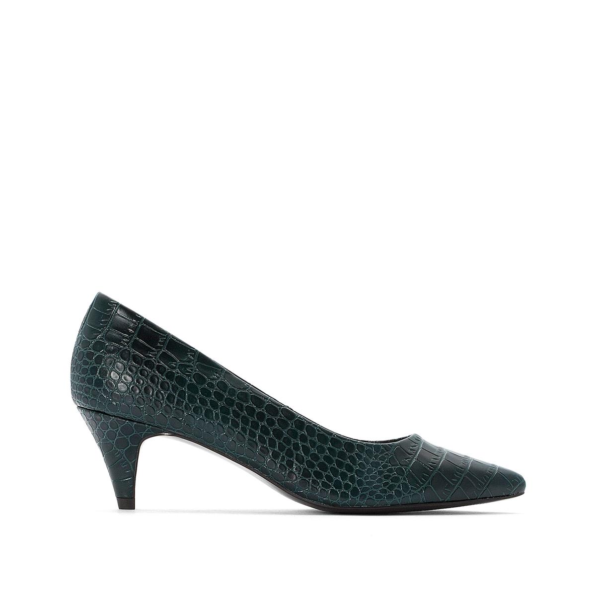 Туфли La Redoute С заостренным мыском с крокодиловым принтом 37 зеленый кеды сникеры la redoute с крокодиловым принтом 38 желтый