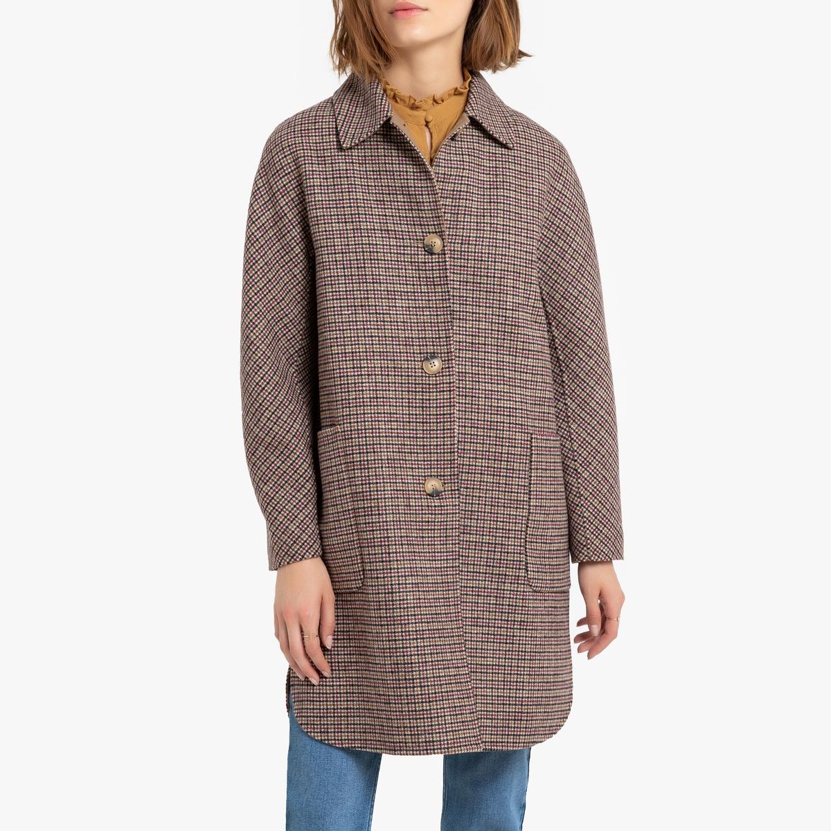 Пальто La Redoute Оверсайз из смесовой шерсти MERIDOT 2(M) бежевый