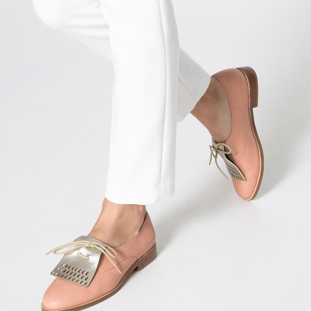 Sapatos derbies com pala mexicana, metalizados