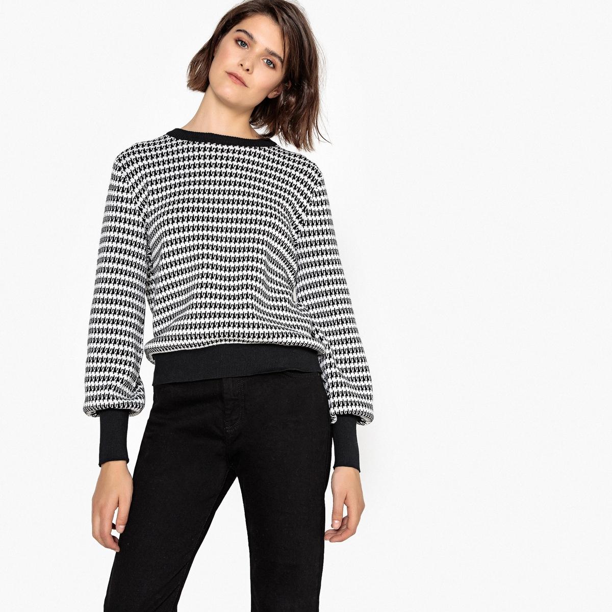 Пуловер из хлопка с принтом