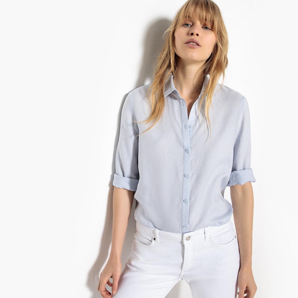 Camisa recta 100% lino