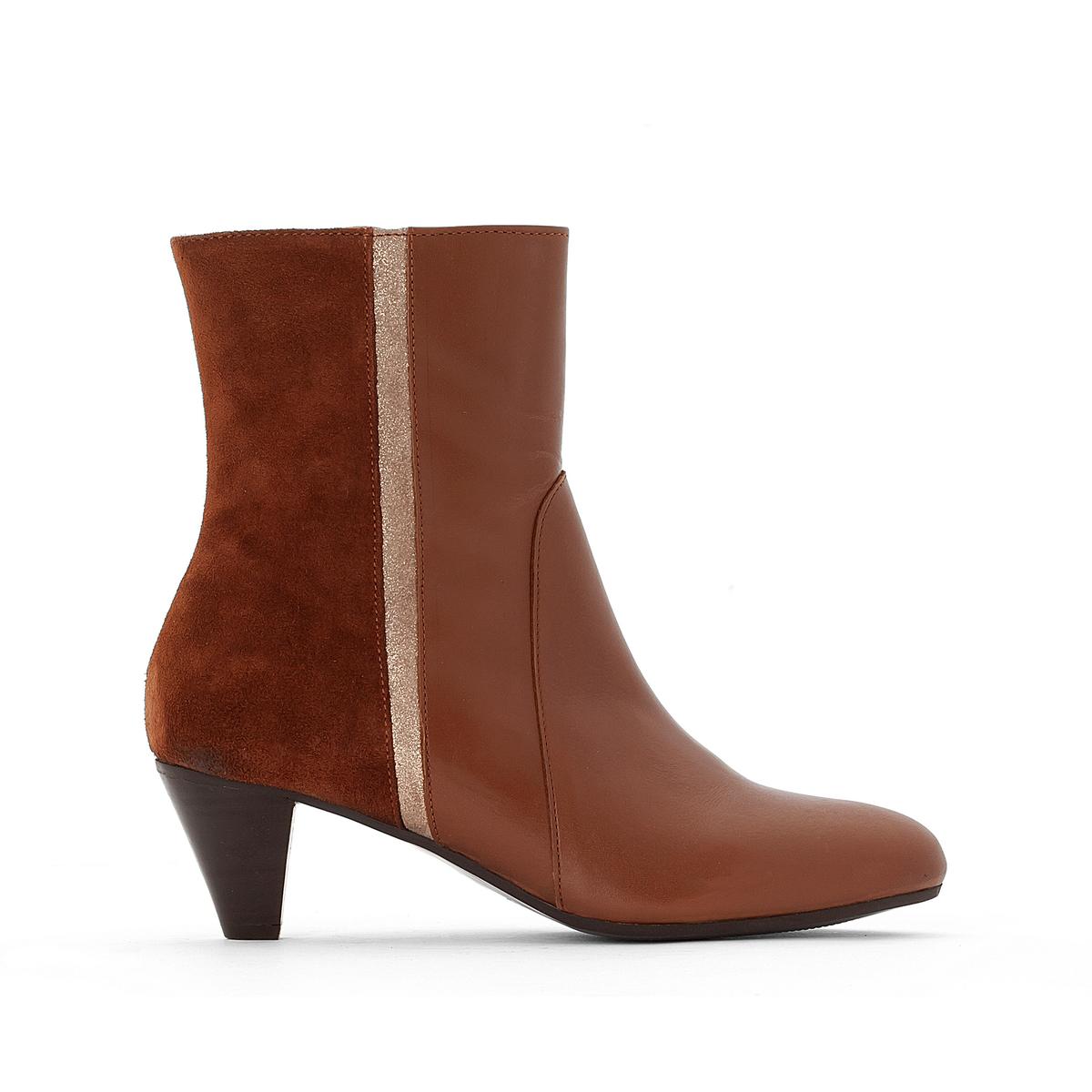 Ботинки кожаные ChelseaВерх/ Голенище : Кожа.      Подкладка : Кожа.      Стелька : Каучук.     Подошва : Каучук.     Форма каблука : Плоский каблук     Мысок : Закругленный     Застежка : без застежки<br><br>Цвет: каштановый<br>Размер: 37