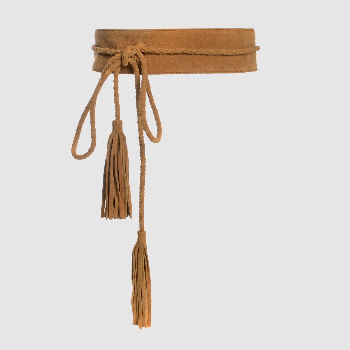 Ремень длинный из невыделанной кожи сумка из невыделанной кожи