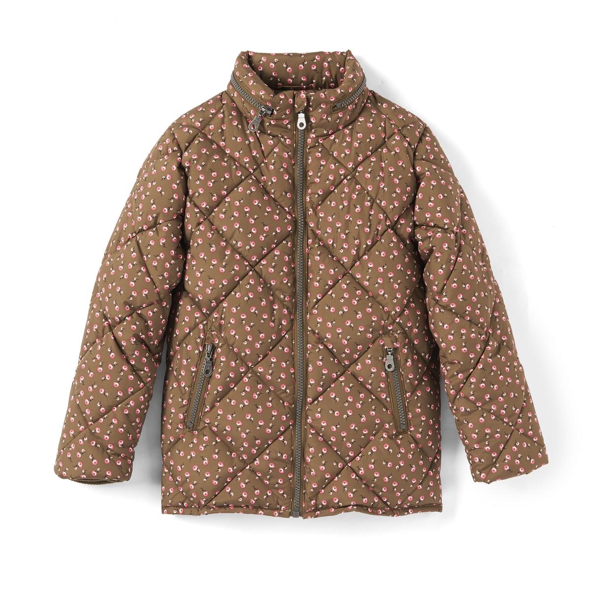 Куртка стеганая с капюшоном и рисунком, 3-12 лет куртка из твида 3 12 лет