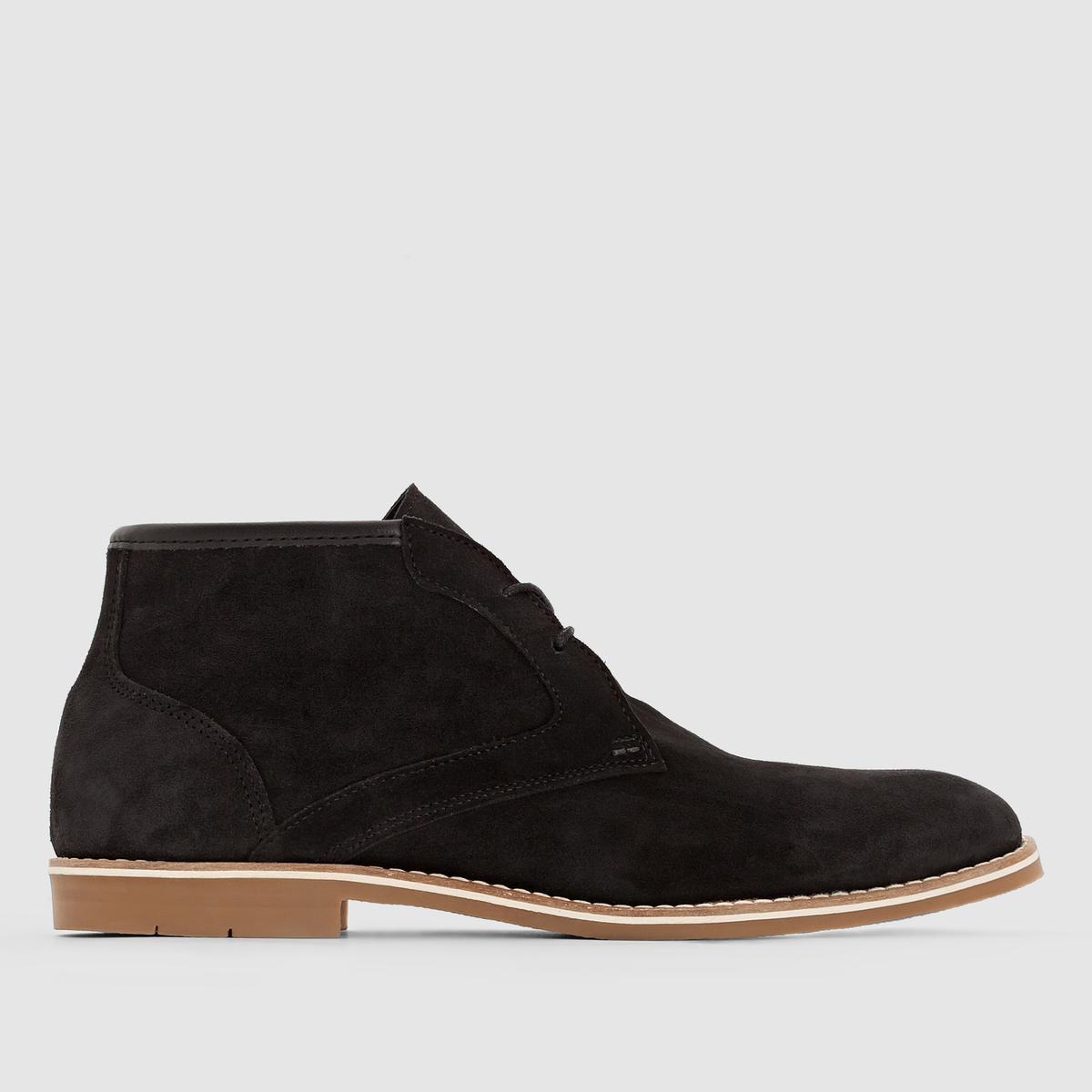 Ботинки кожаные на шнуровке. от La Redoute Collections