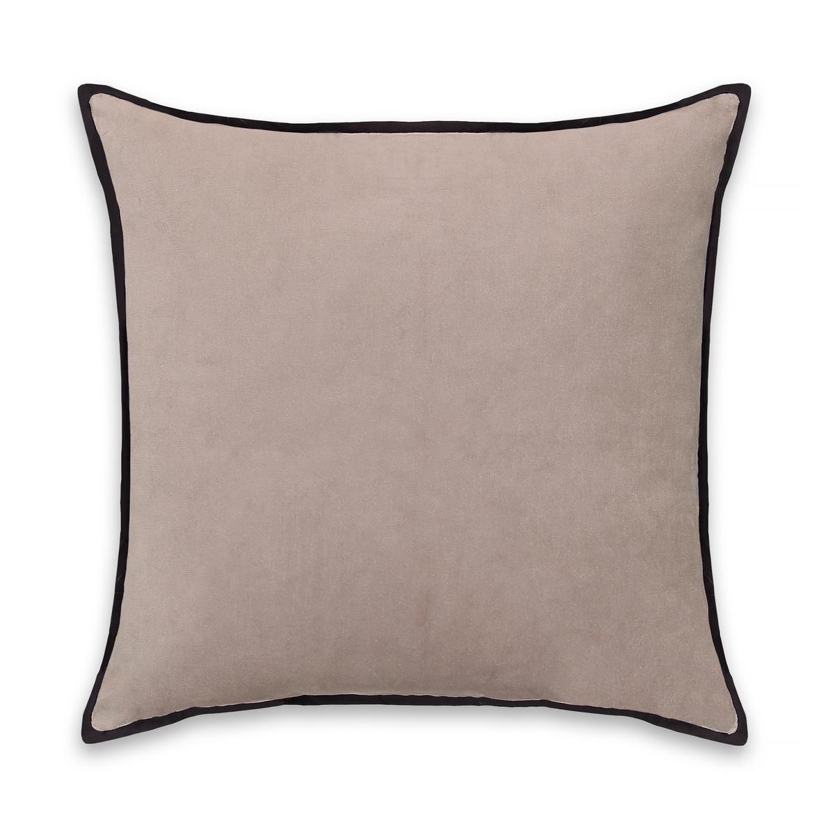 Чехол La Redoute На подушку-валик из велюра Vlivole 50 x 30 см серый наволочка la redoute flooch 50 x 30 см бежевый