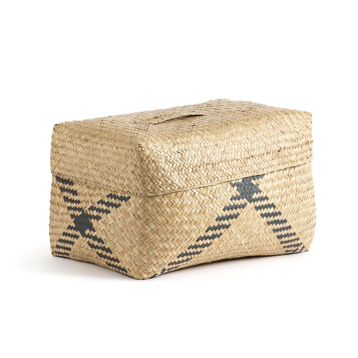 Корзина La Redoute С крышкой Kotak единый размер бежевый полотенце la redoute для рук из махровой ткани хлопок с люверсом единый размер бежевый