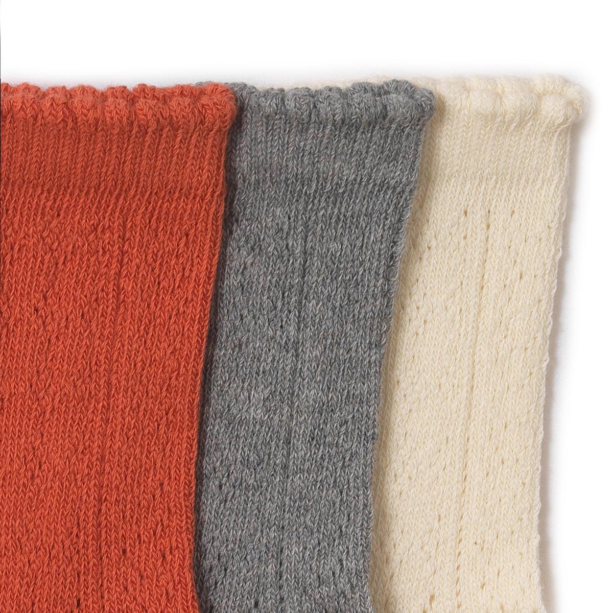 Комплект из 3 пар носков, 3-12 летСостав и описание : Материал         80% хлопка, 20% полиамидаМарка        abcdRУход :Ручная стиркаМашинная сушка запрещенаНе гладить<br><br>Цвет: экрю + розовый + серый