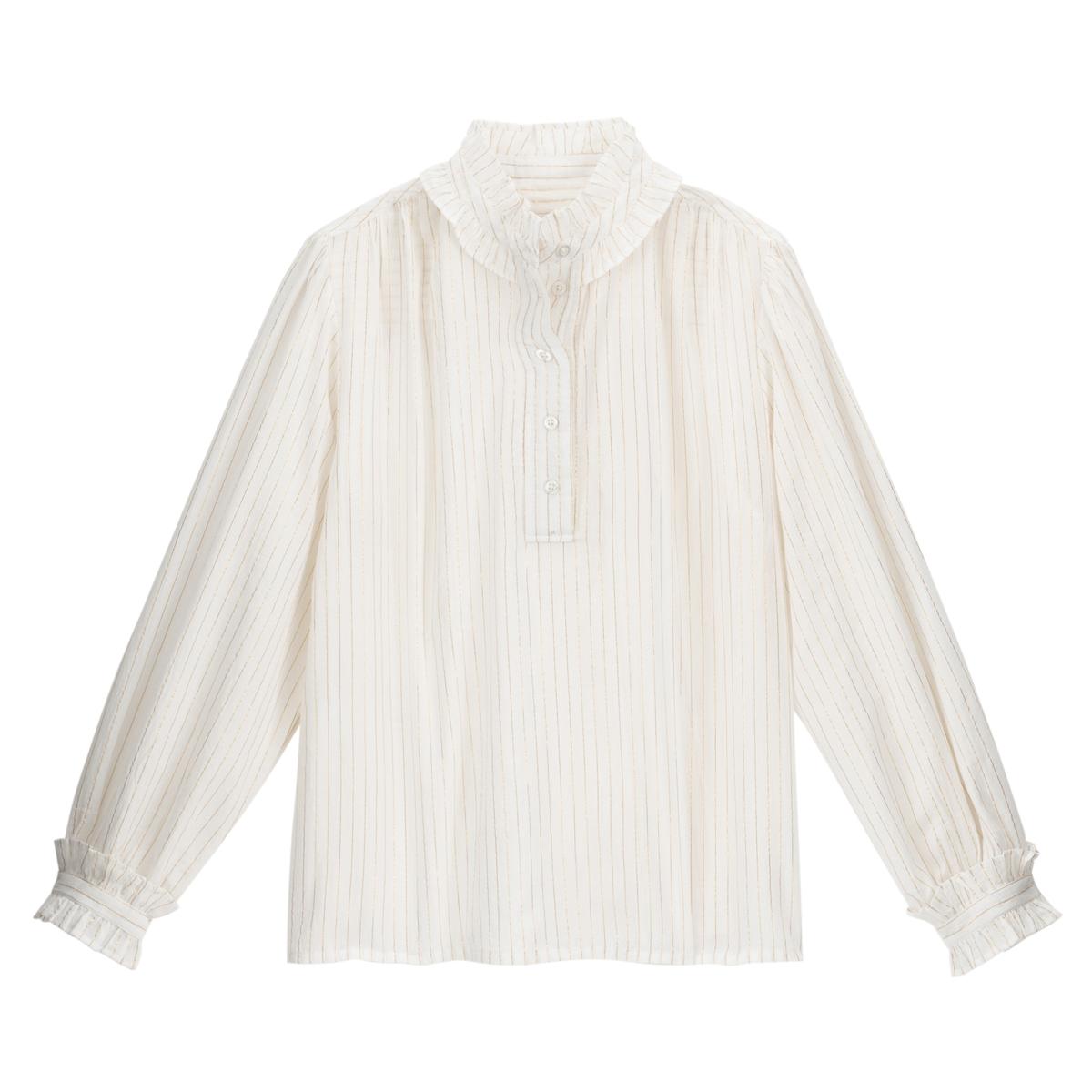 Blusa con cuello alto, manga larga