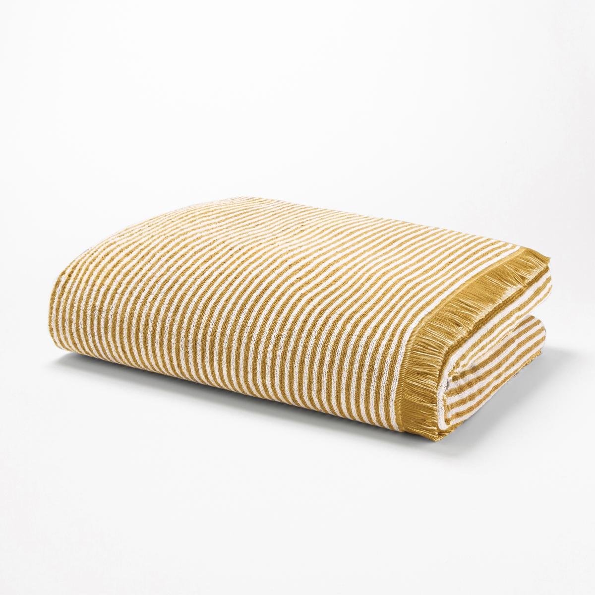 Полотенце банное в полоску из махровой ткани HARMONYОписание:Красивый и элегантный рисунок в полоску, банное полотенце из махровой ткани Harmony современных и оригинальных расцветок. Сделано в Португалии.Характеристики банного полотенца Harmony :Махровая ткань с жаккардовым рисунком, 100% хлопок, 500 г/м?.Рисунок в полоску на белом фоне, отделка бахромой.Машинная стирка при 60° и барабанная сушка.Размеры банного полотенца Harmony :70 x 140 смОткройте для себя всю коллекцию Harmony на сайте laredoute.ruЗнак Oeko-Tex® гарантирует, что товары протестированы и сертифицированы и не содержат вредных для здоровья веществ.<br><br>Цвет: желтый кукурузный