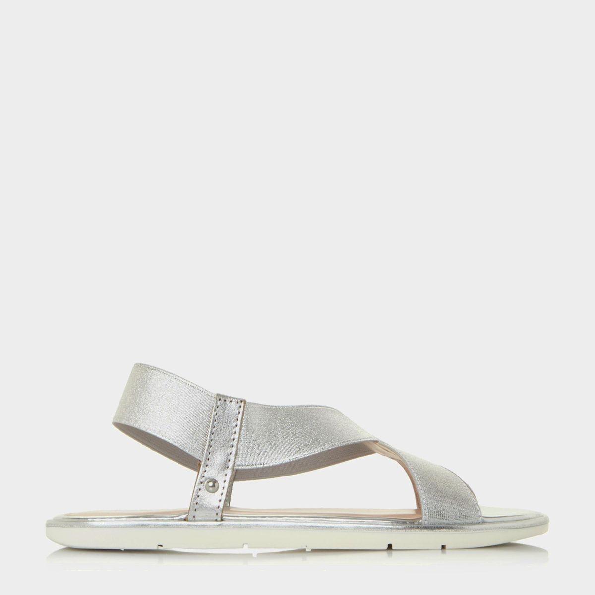 Sandales plates à brides élastiques croisées - LINKE