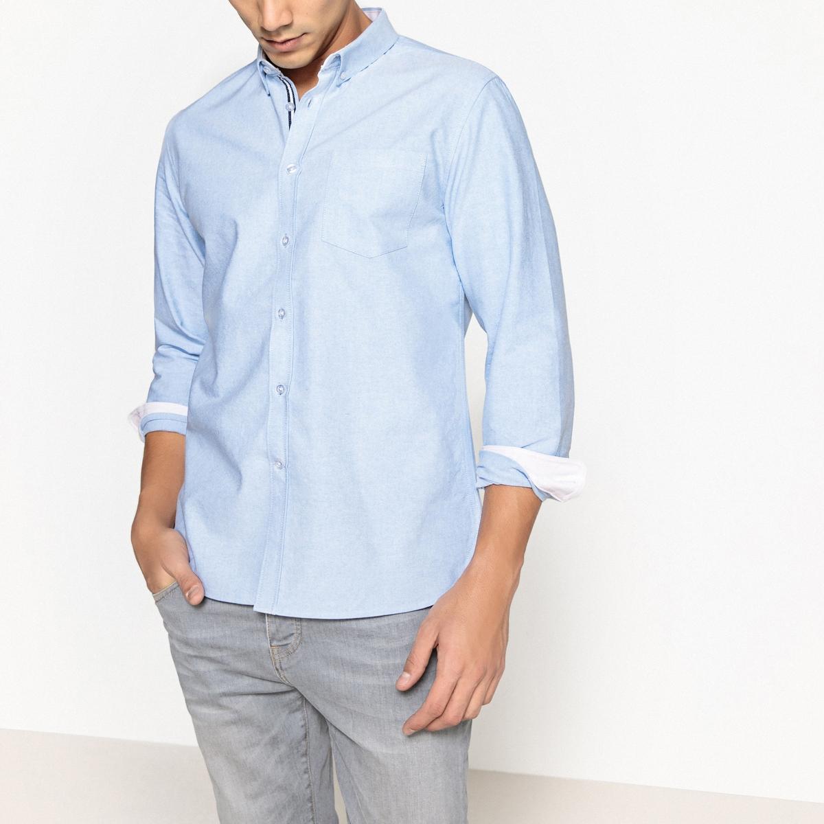 Рубашка прямого покроя из ткани оксфорд