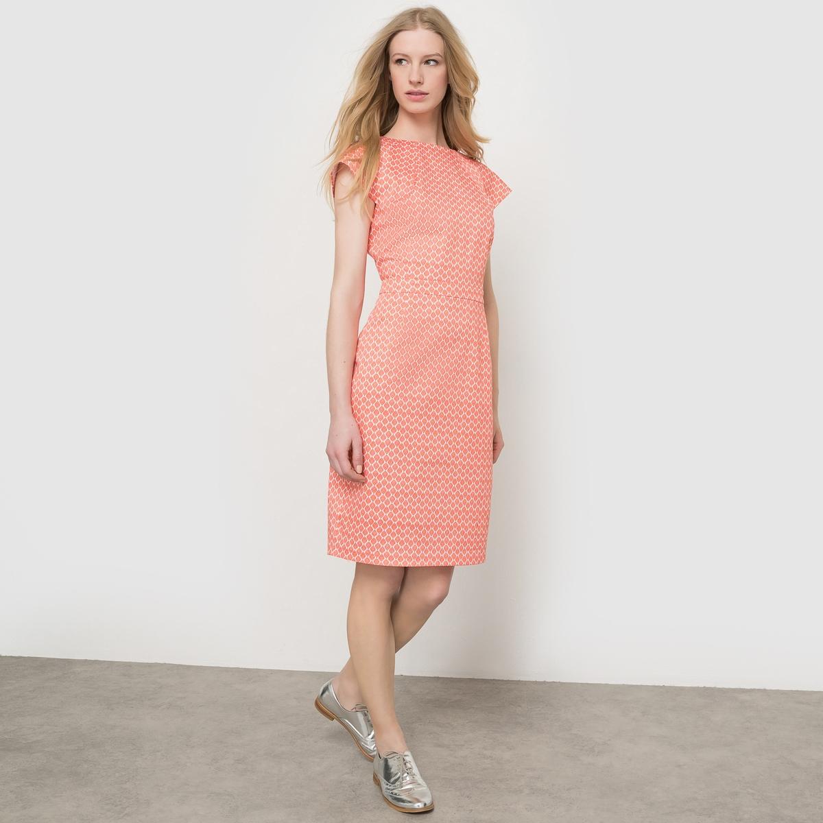 Платье короткое с рисунком
