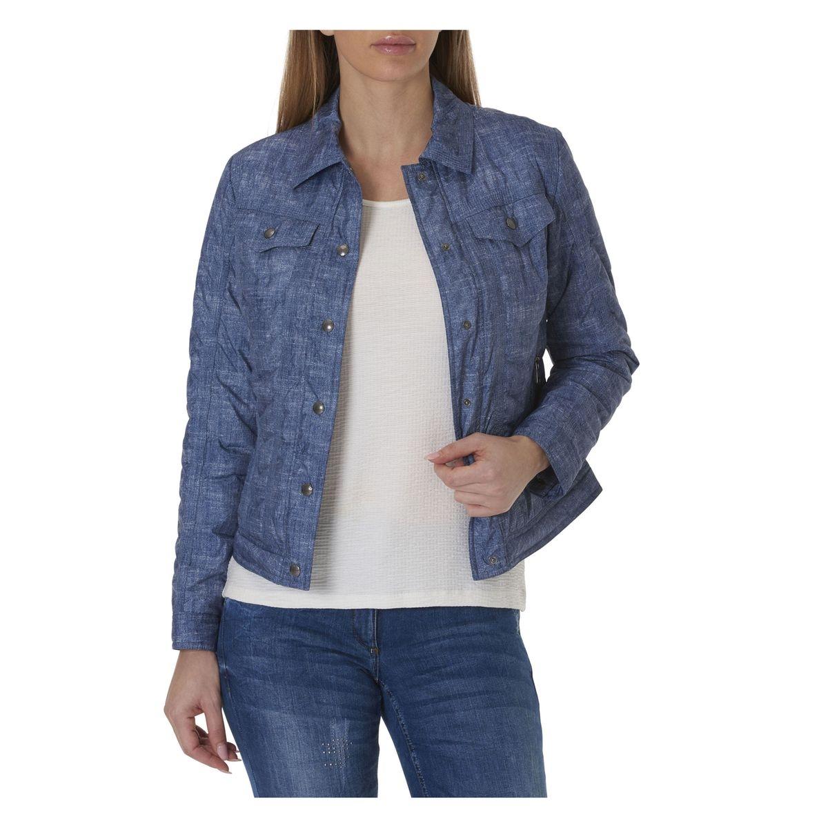 Veste en jean avec structure
