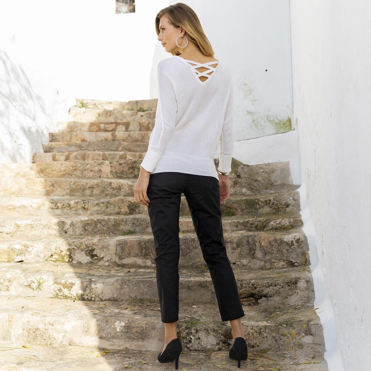 Imagen principal de producto de Pantalón recto tobillero de algodón stretch - Anne weyburn