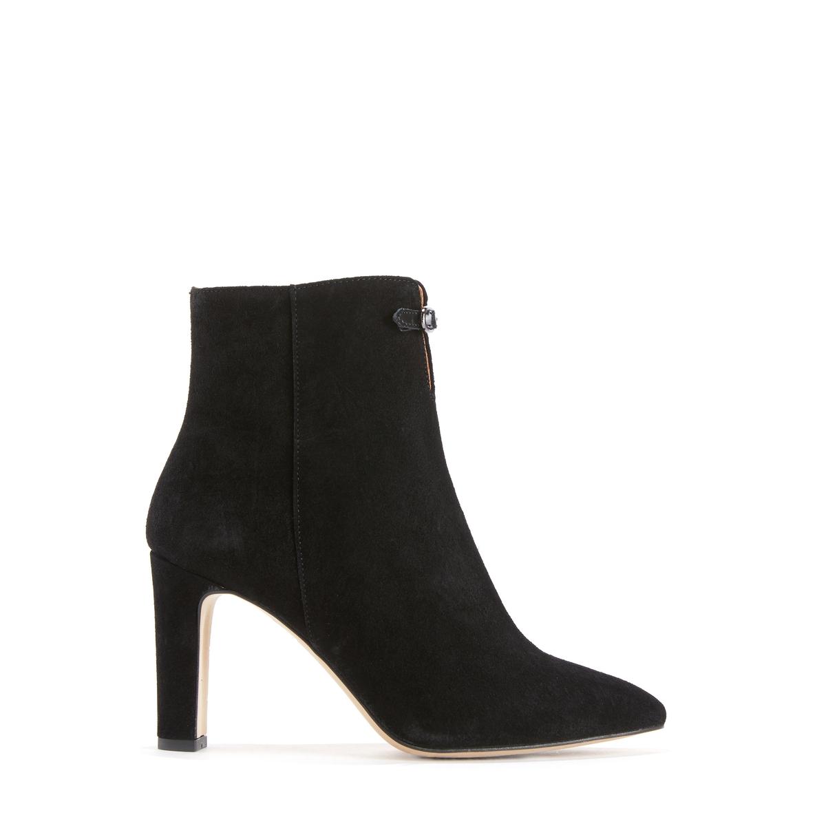 Ботильоны кожаные на высоком каблуке NOUVEL цены онлайн