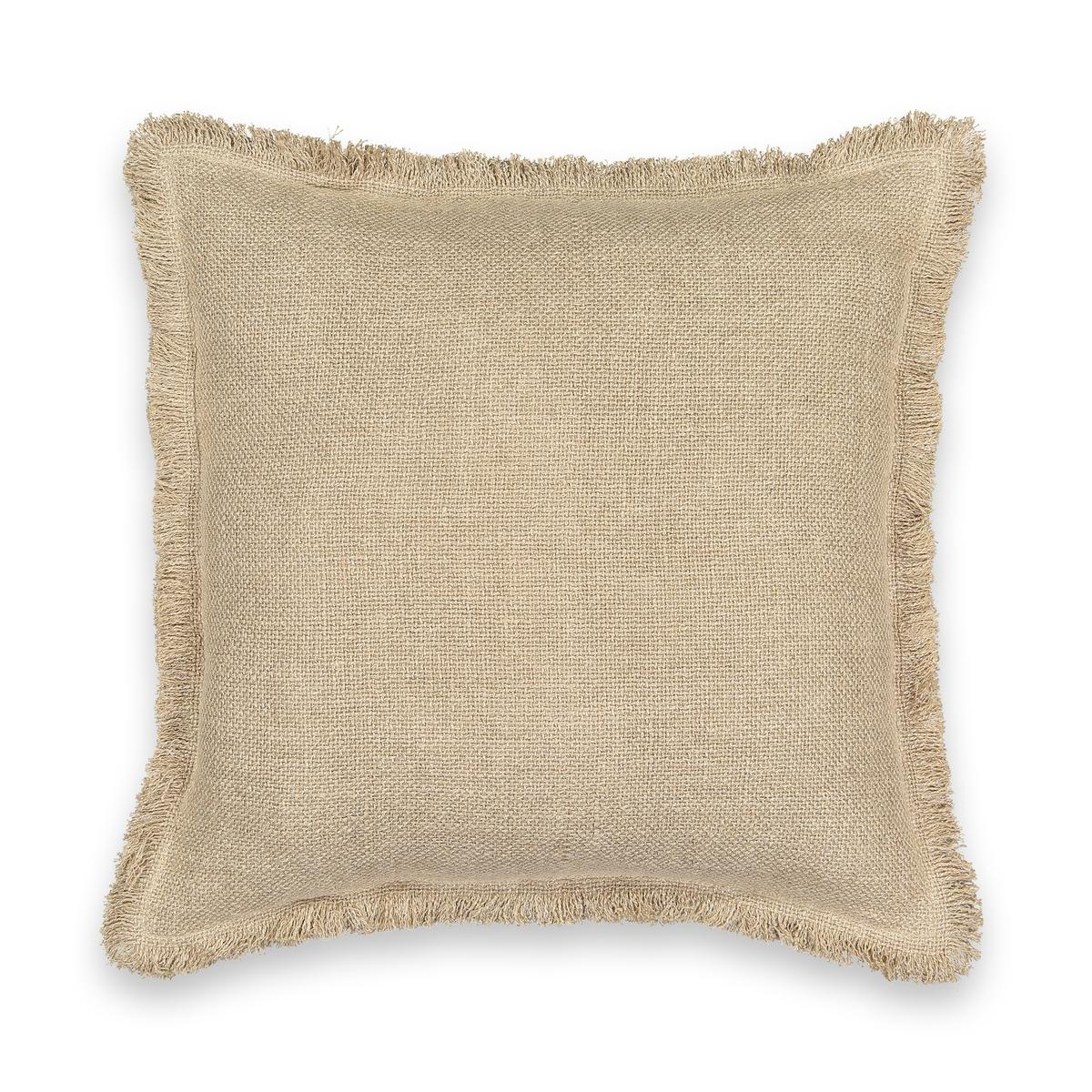 Чехол LaRedoute На подушку из необработанного льна Naoli 50 x 50 см бежевый