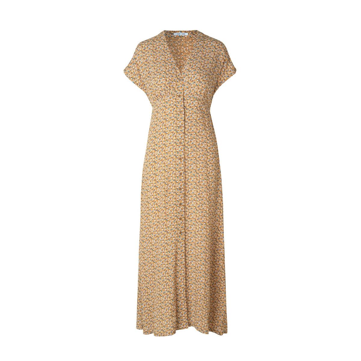 Платье La Redoute Длинное с принтом S желтый кеды сникеры la redoute с крокодиловым принтом 38 желтый