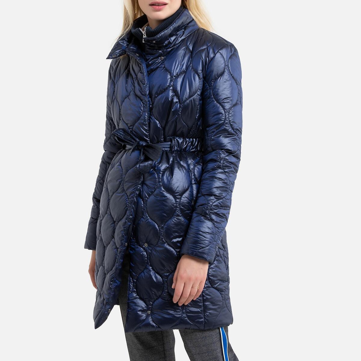 Куртка La Redoute Короткая с застежкой на молнию 54 (FR) - 60 (RUS) синий полуприлегающая куртка с застежкой на кнопки escada полуприлегающая куртка с застежкой на кнопки
