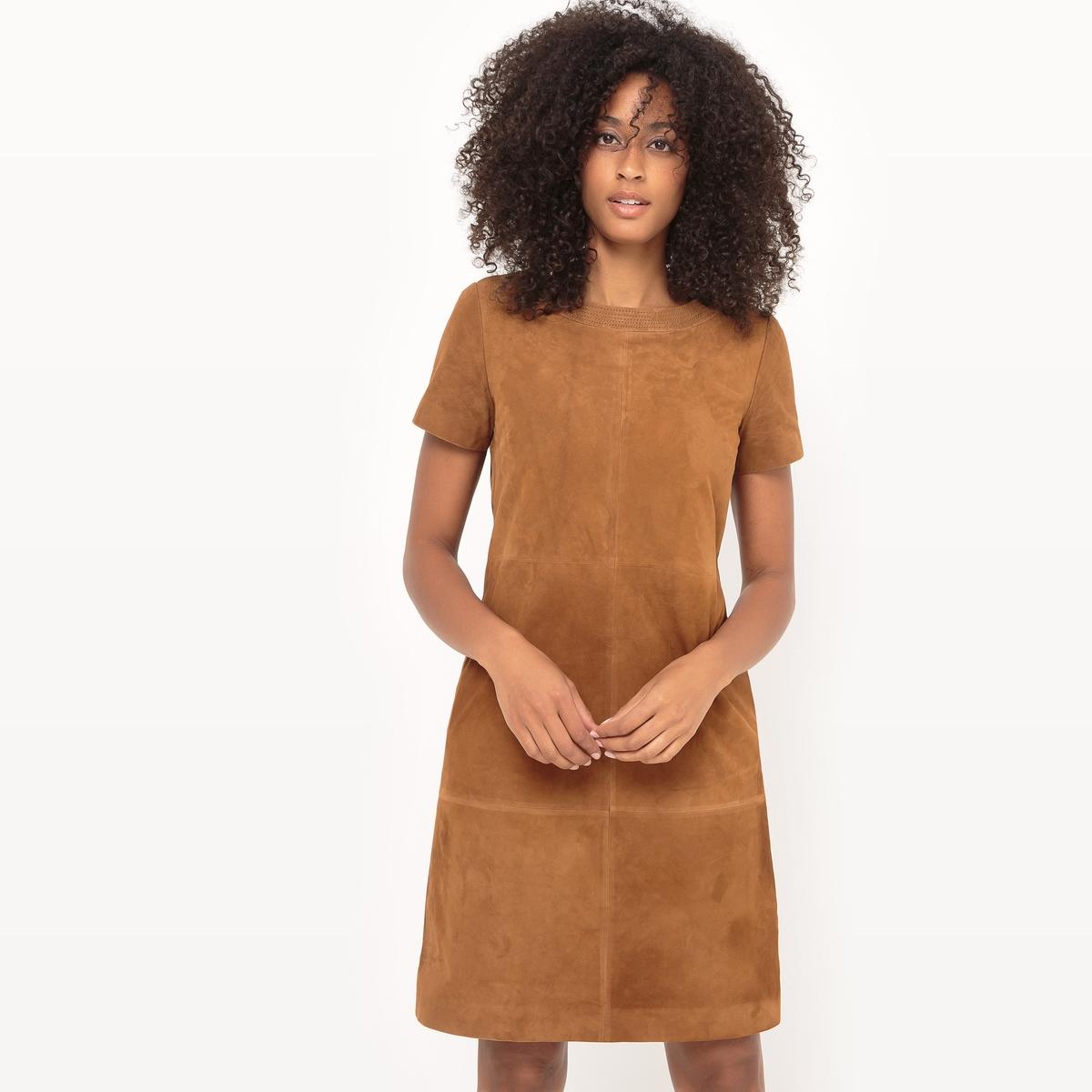Платье прямое, 100% кожаМатериал : 100% козья кожа      Подкладка : 100% хлопок      Длина рукава : короткие рукава       Форма воротника : Круглый вырез      Покрой платья : платье прямого покроя  Рисунок : Однотонная модель        Длина платья : до колен<br><br>Цвет: темно-бежевый,темно-синий<br>Размер: 52 (FR) - 58 (RUS).50 (FR) - 56 (RUS).48 (FR) - 54 (RUS).38 (FR) - 44 (RUS).52 (FR) - 58 (RUS).48 (FR) - 54 (RUS).46 (FR) - 52 (RUS).42 (FR) - 48 (RUS)