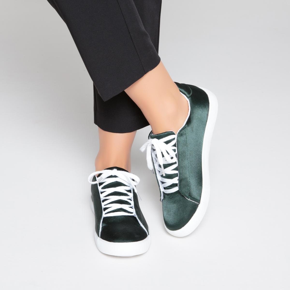 Zapatillas con efecto satén