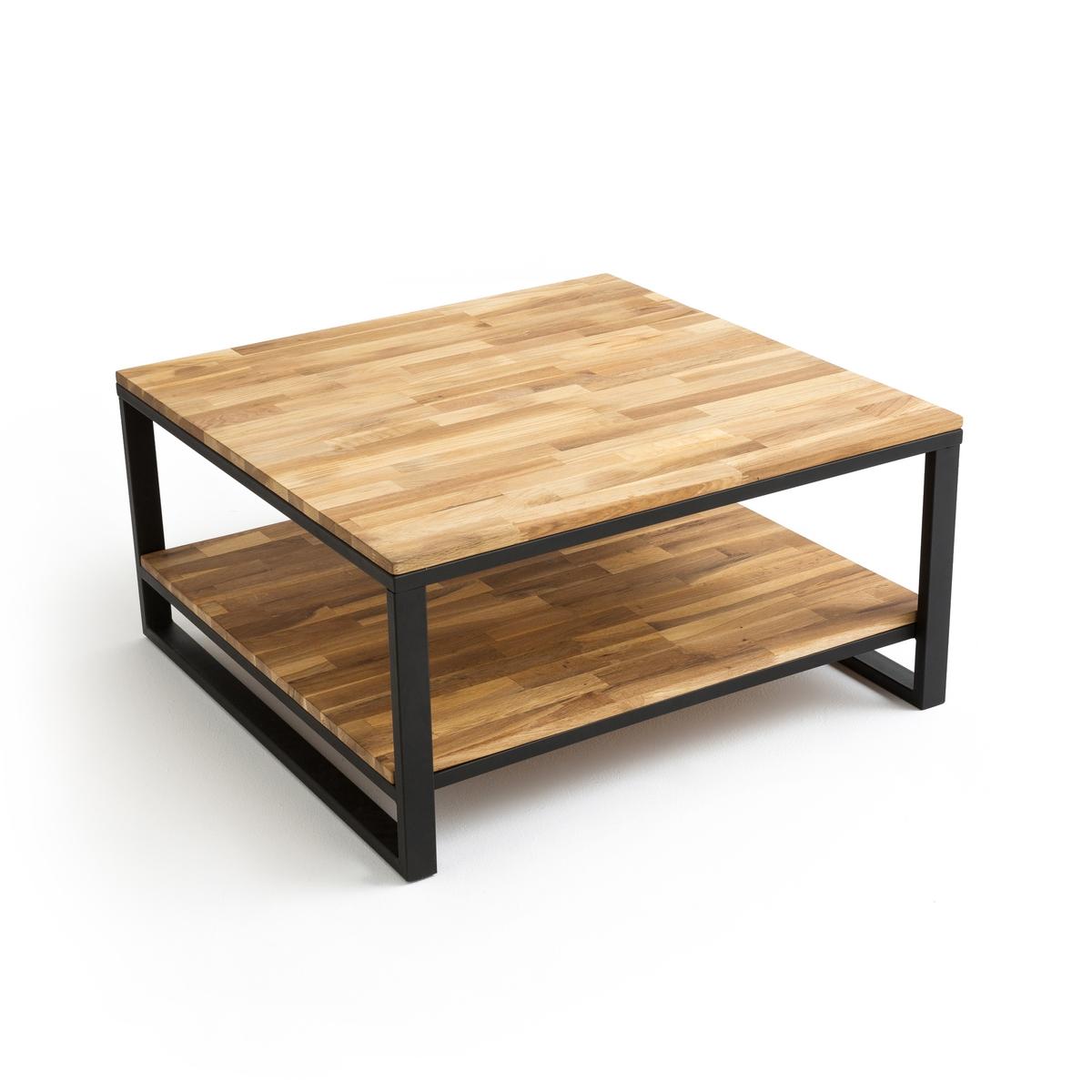 Стол журнальный квадратный с двойной столешницей из дуба, HIBA цена