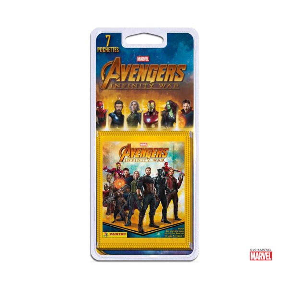 7 Pochettes Avengers Infinity War 1