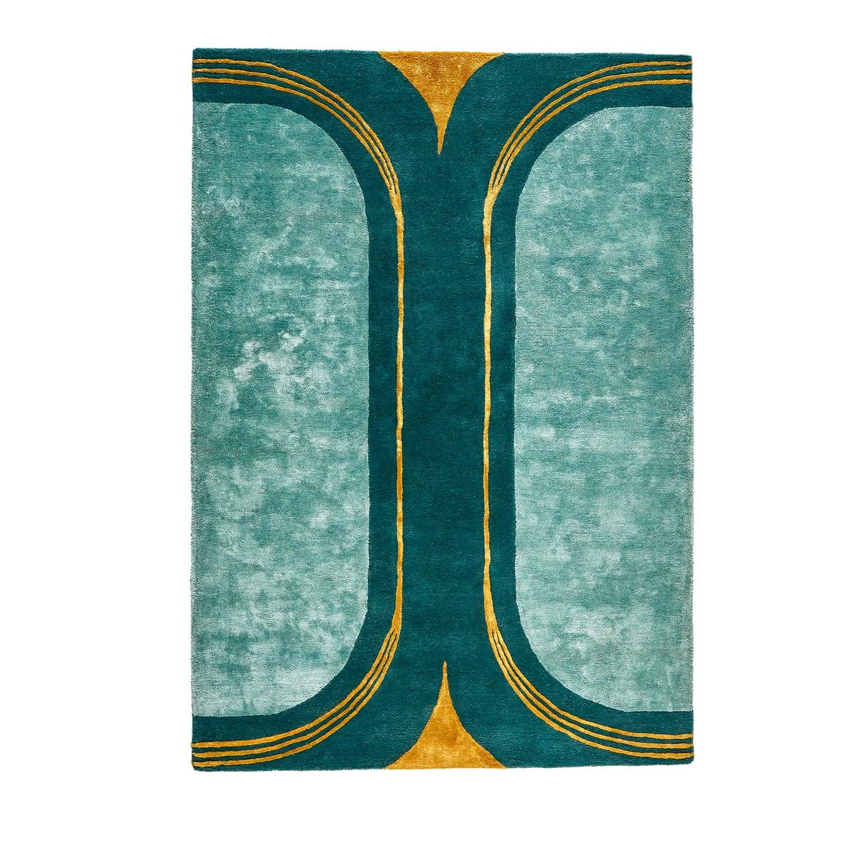 Ковер La Redoute Из шерсти и вискозы Seda 200 x 290 см зеленый