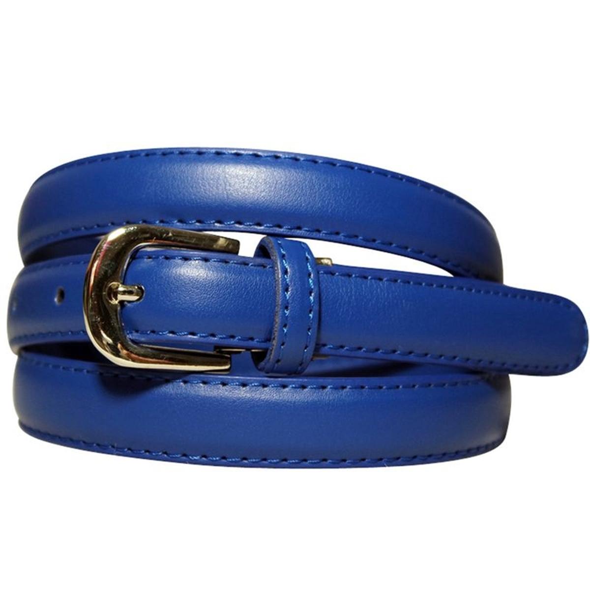 CHAPEAU-TENDANCE Ceinture fine cuir bleu roi c209359571b