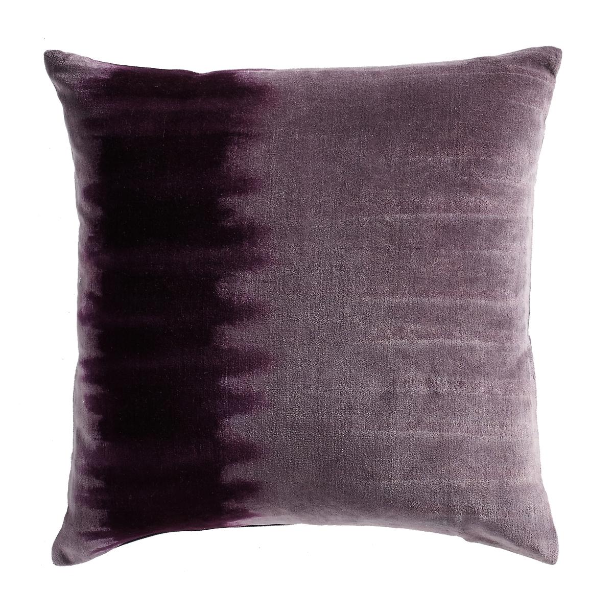 Наволочка на подушку-валик, TIE AND DYE, из велюра, 100% хлопок.Характеристики наволочки на подушку-валик:Материал :  100% хлопок Потайная застежка на молнию в тон. Уход : машинная стирка при 30 °С.Размеры наволочки на подушку-валик:40 x 40 см.<br><br>Цвет: ярко-фиолетовый/ бордовый
