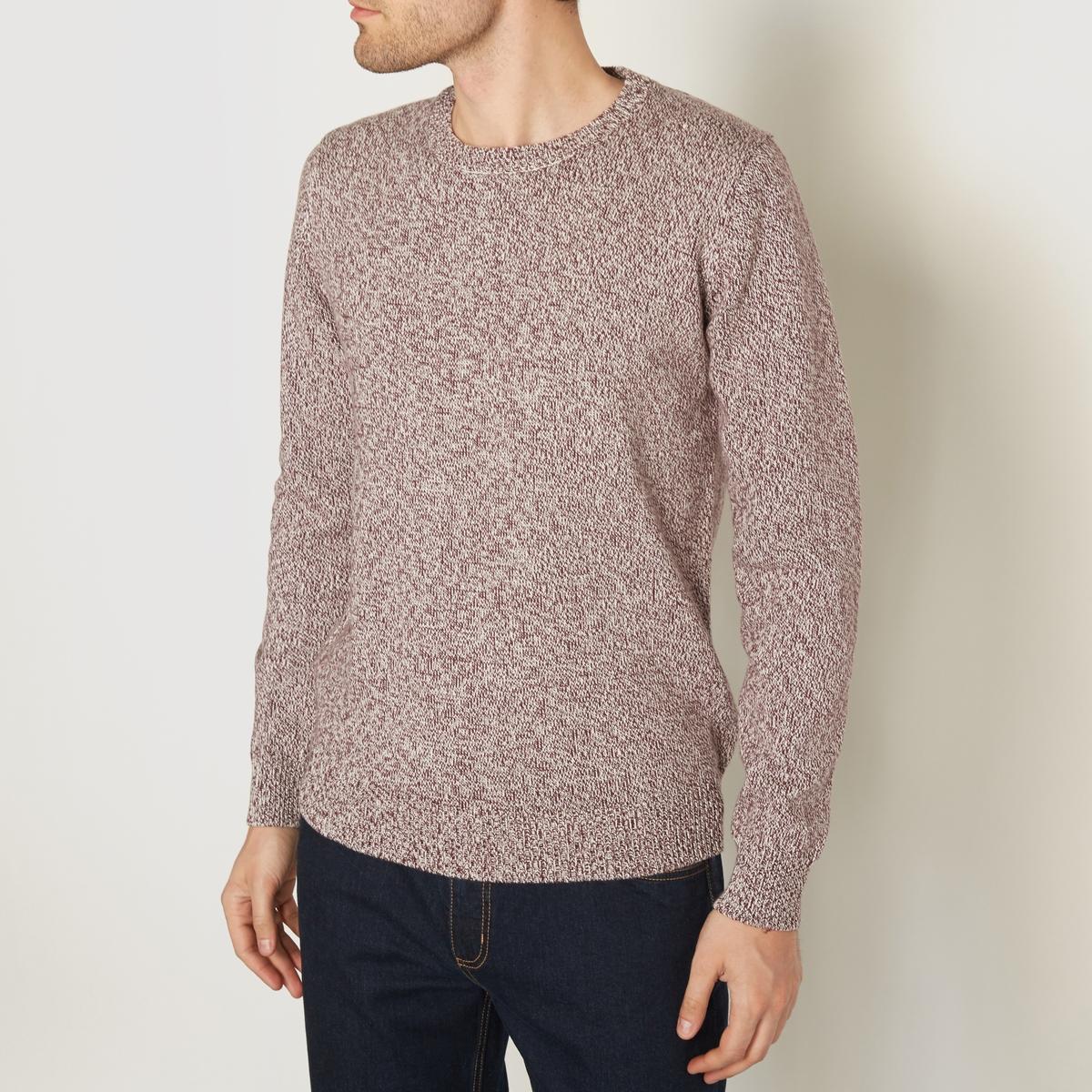 Пуловер из трикотажа мулинеСостав и описание:Материал: 100% хлопка.Марка: R edition<br><br>Цвет: бордовый/экрю