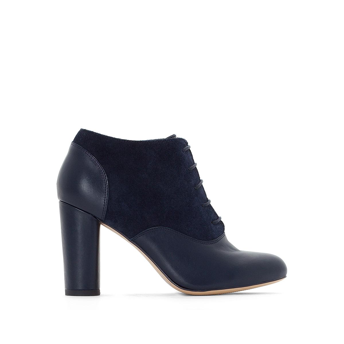 Ботинки-дерби на высоком каблуке