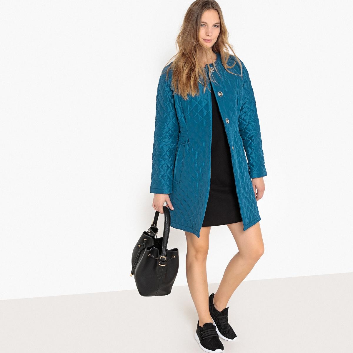 Куртка La Redoute Стеганая легкая без воротника 38 (FR) - 44 (RUS) синий шорты la redoute плавательные с принтом джунгли мес года 18 мес 81 см синий