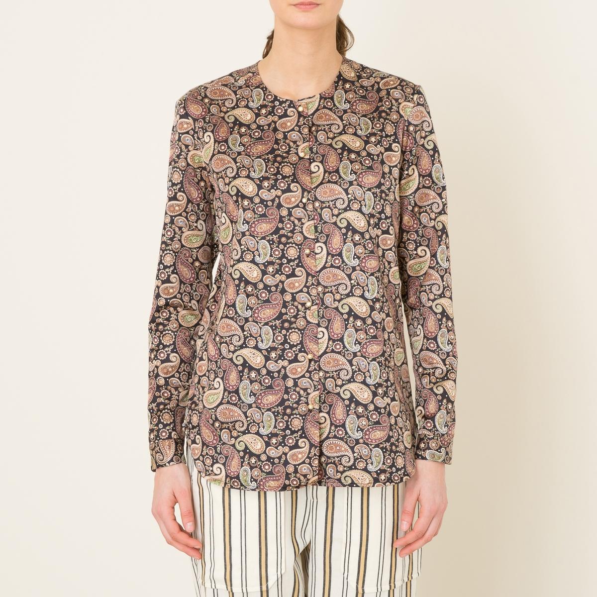 Рубашка с рисунком из кашемира