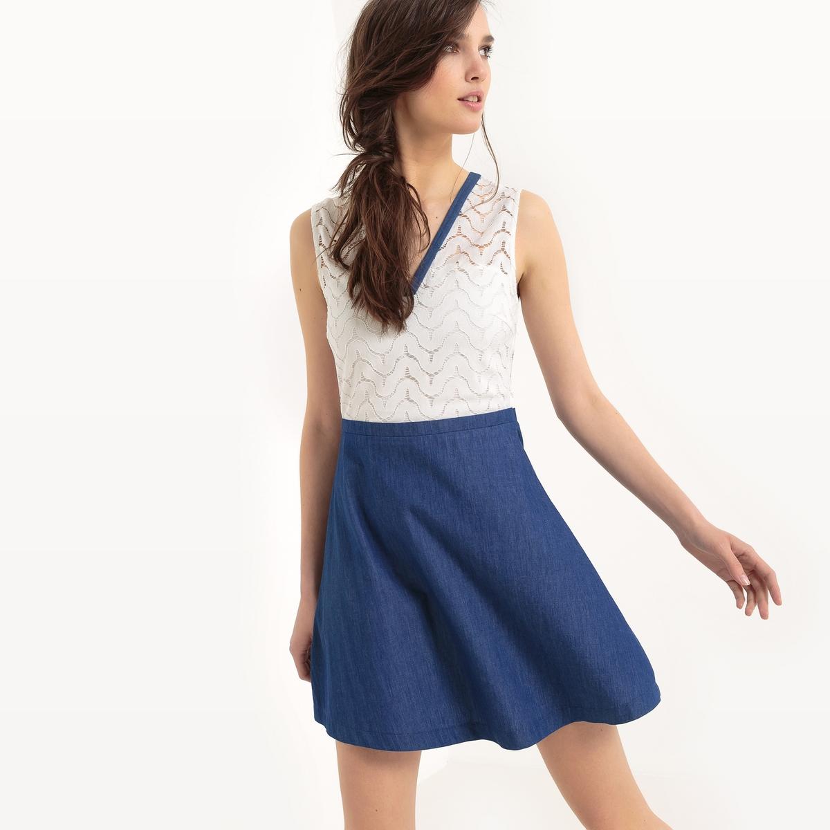 Платье короткое однотонное без рукавов платье без рукавов 85% хлопка
