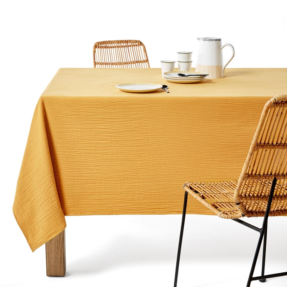 Скатерть LaRedoute Из хлопка Kumla 140 x 250 см желтый