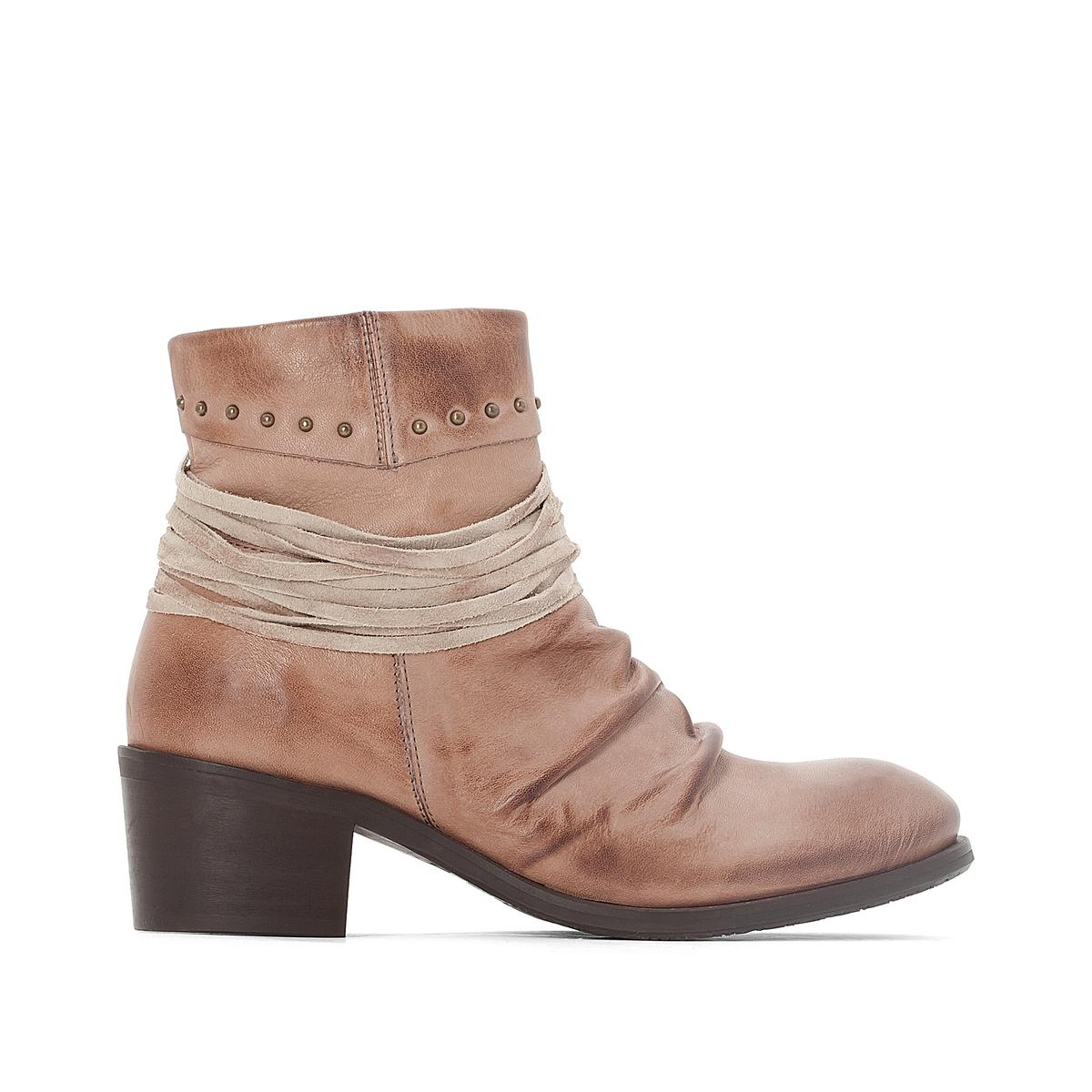 Ботильоны кожаные Clea цены онлайн