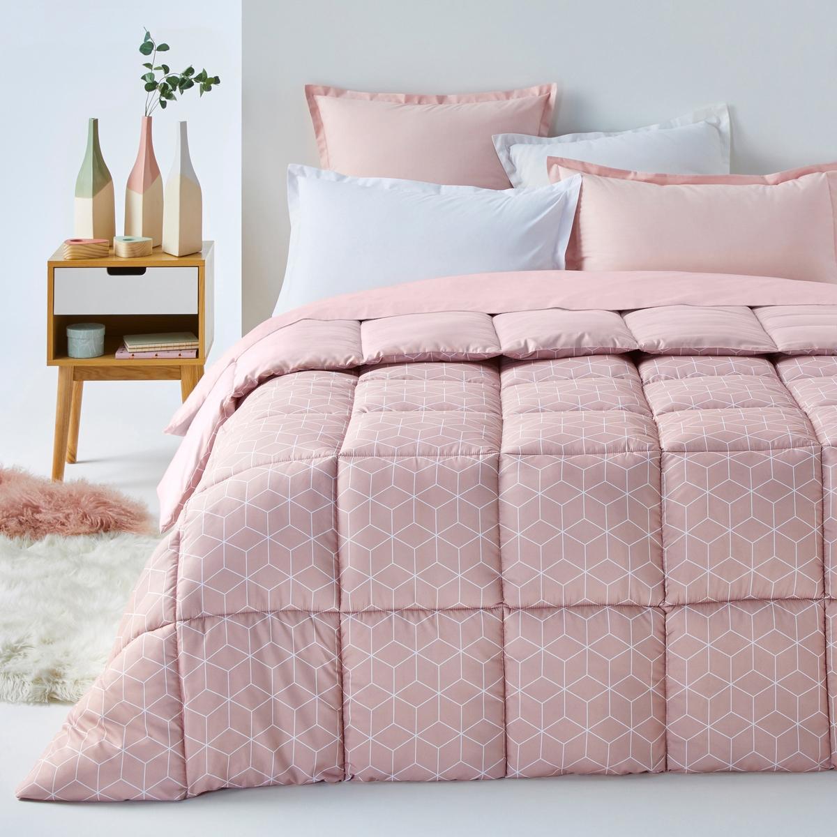 Одеяло La Redoute С рисунком Decio 140 x 200 см розовый