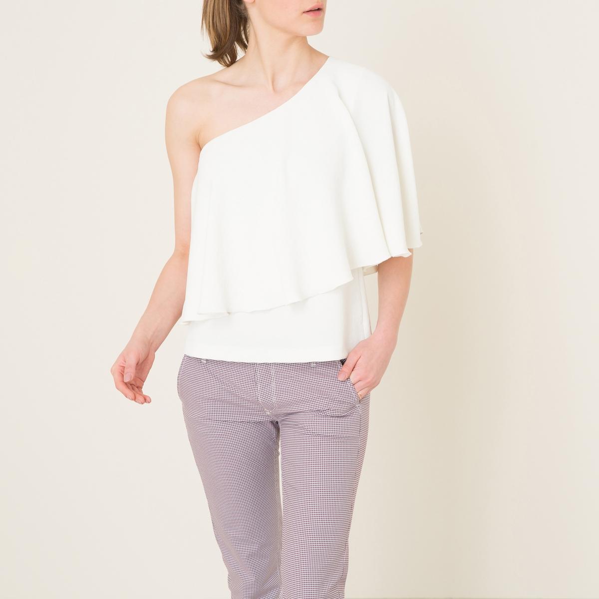 Блузка JULESБлузка с открытым плечом BA&amp;SH - модель JULES из вуали. Широкий волан .Состав и описание    Материал : 100% полиэстер   Марка : BA&amp;SH<br><br>Цвет: белый