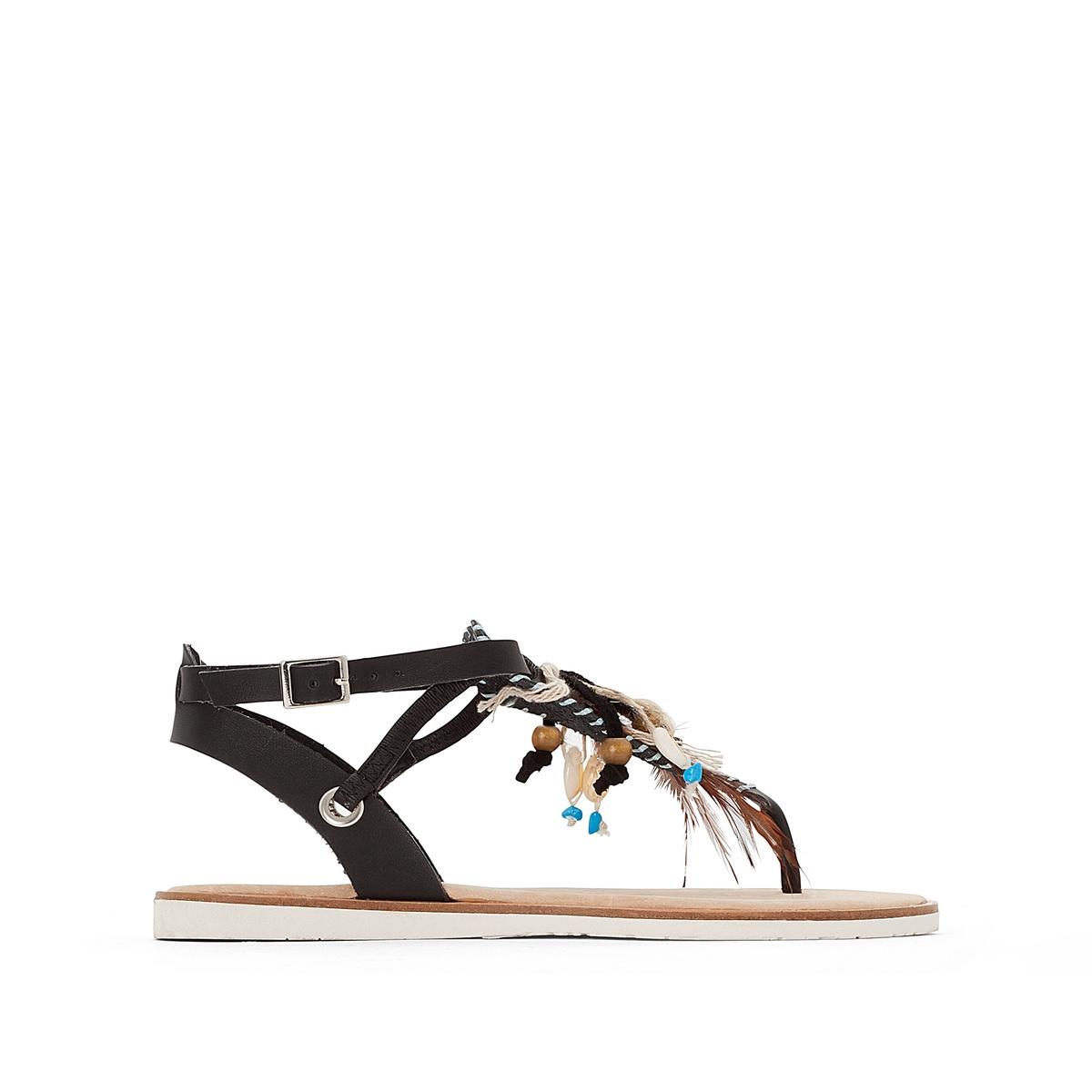 Босоножки HonoluluВерх/Голенище : синтетика Стелька : кожа  Подошва : каучук   Форма каблука : плоский каблук  Мысок : закругленный мысок  Застежка : пряжка<br><br>Цвет: каштановый,черный