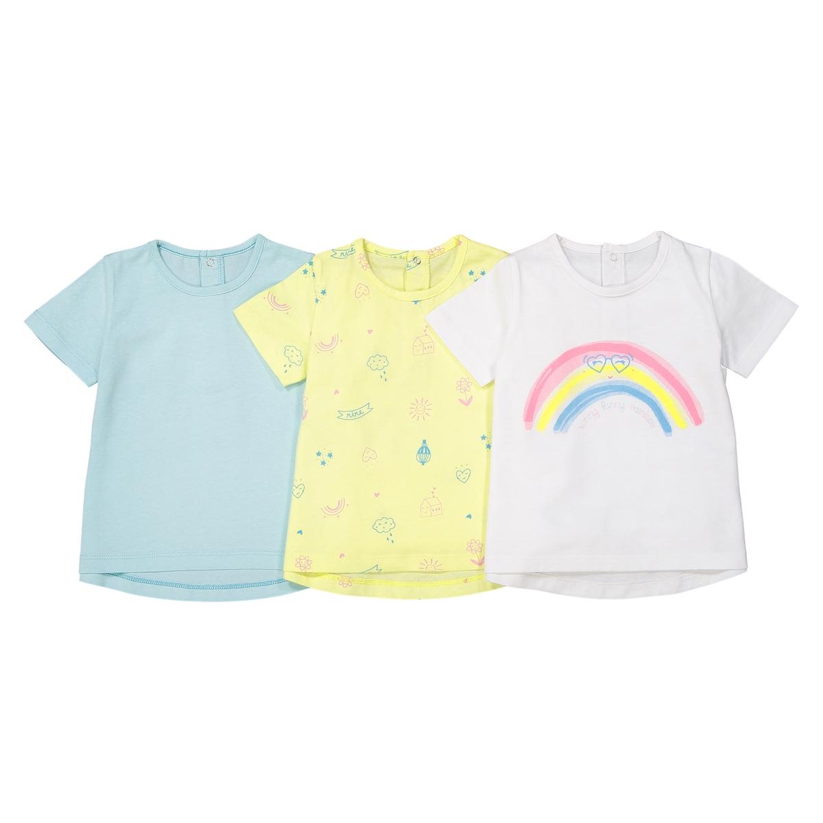 Комплект из 3 футболок, знак Oeko Tex, 1 мес. - 3 года