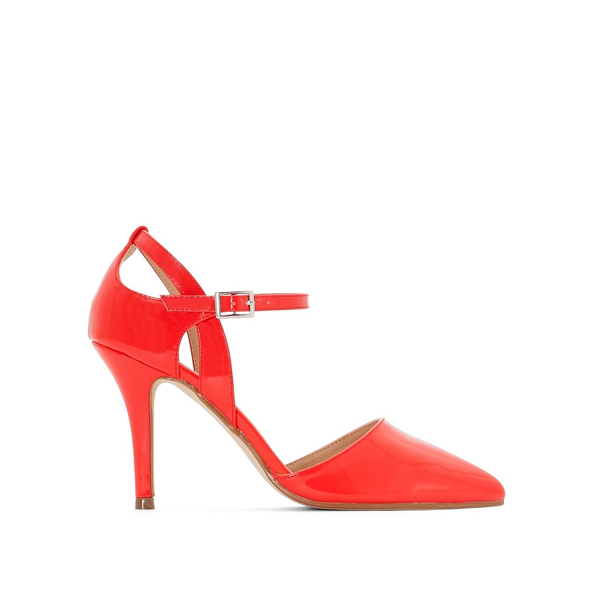 Туфли на шпильке лакированные с ремешком на лодыжке canali лакированные туфли