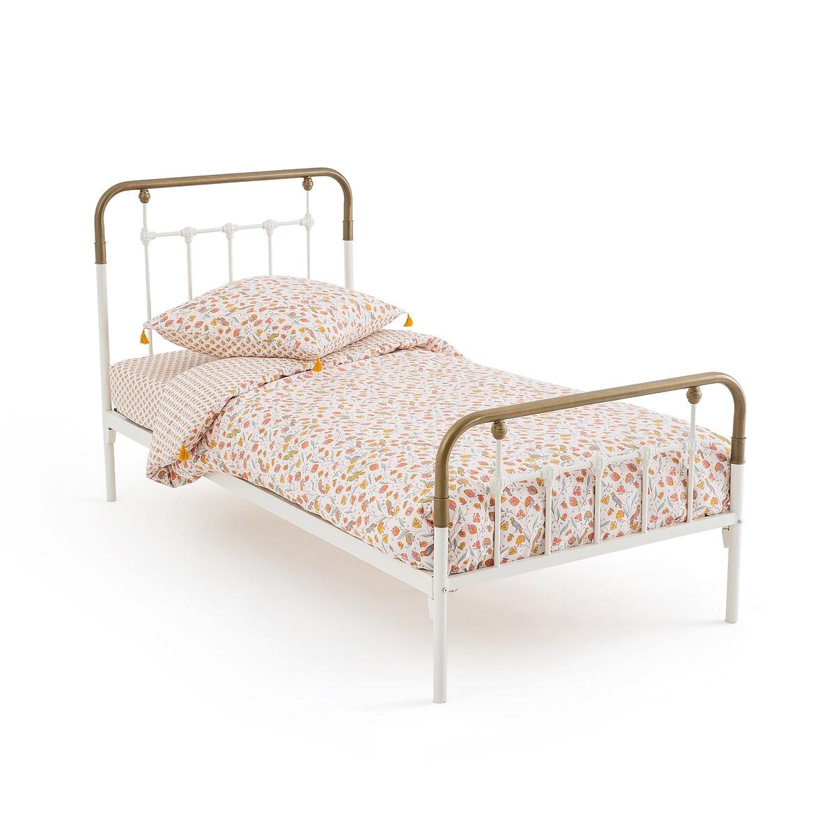 Кровать LaRedoute Металлическая Asper 90 x 190 см белый