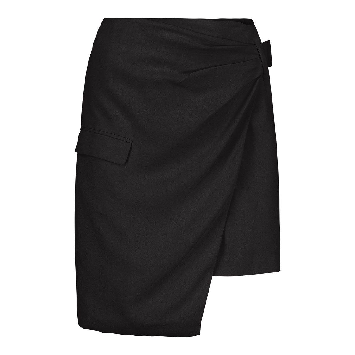 Jupe portefeuille courte habillé noir