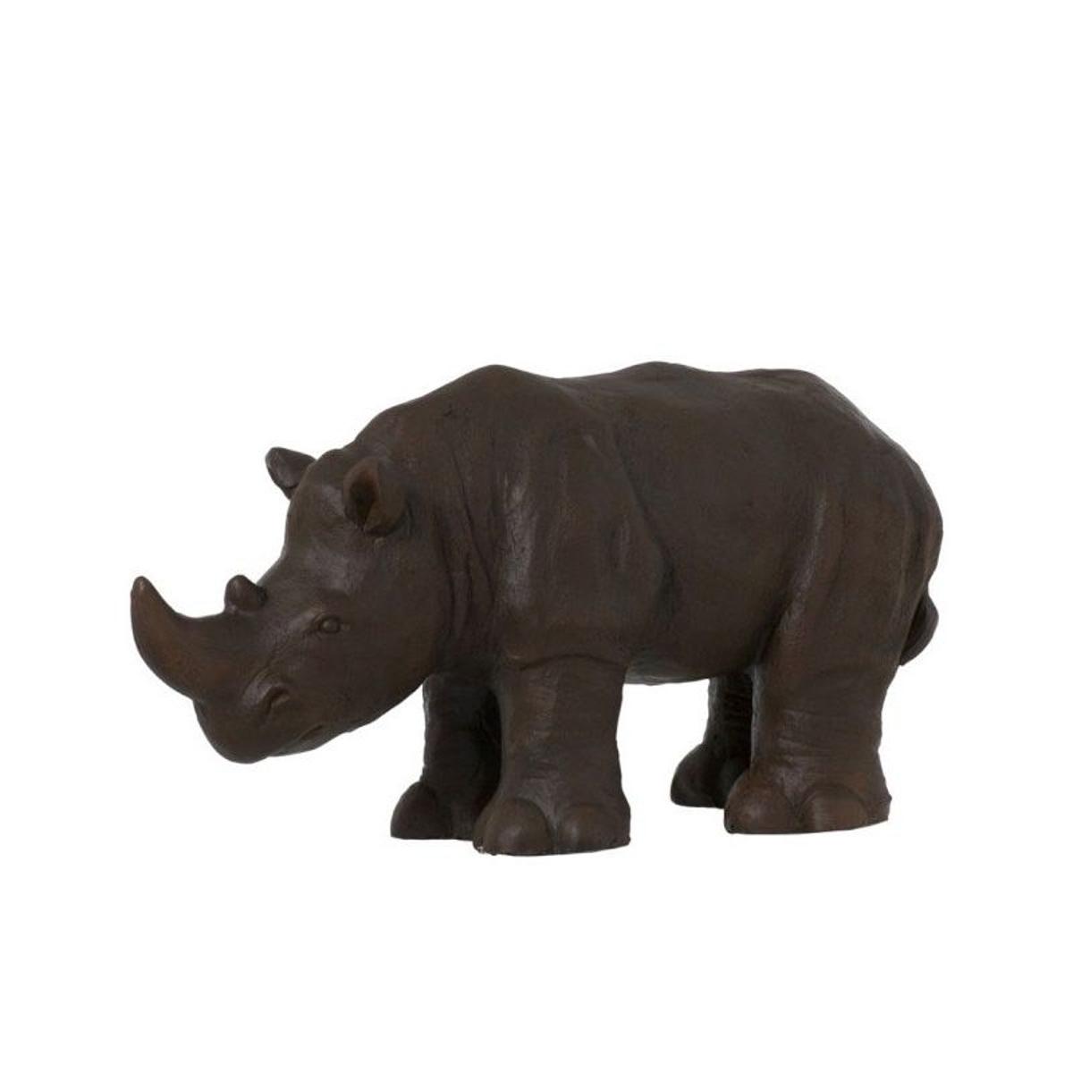 Rhinocéros Décoratif en Résine Marron Déco Ethnique