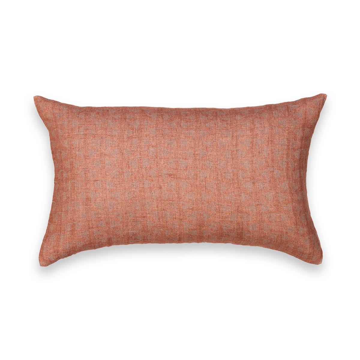 Наволочка La Redoute Из льна Boon me 50 x 30 см каштановый комплект из полотенце для la redoute рук из хлопка и льна nipaly 50 x 100 см белый