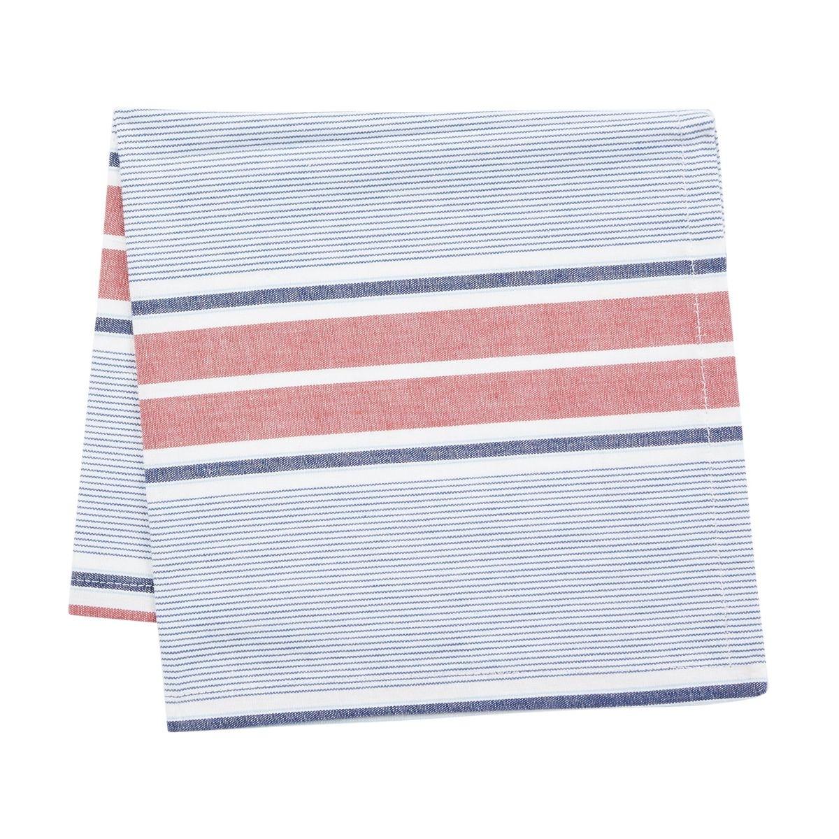 4 Serviettes De Table Parfait Coton Rayures