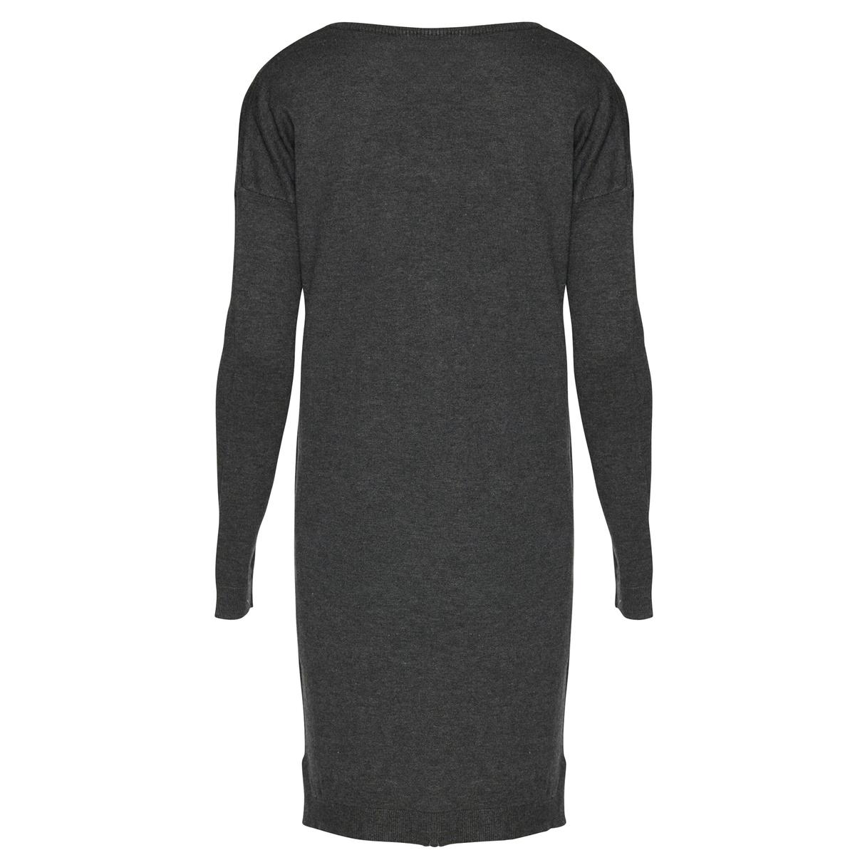 Платье из тонкого трикотажа с V-образным вырезом MAFA DR 5Платье с длинными рукавами MAFA DR 5 от ICHI. Тонкий трикотаж. V-образный вырез. Состав и описаниеМарка: ICHI.Модель: MAFA DR 5.Материалы: 80% вискозы, 20% нейлона.<br><br>Цвет: темно-серый
