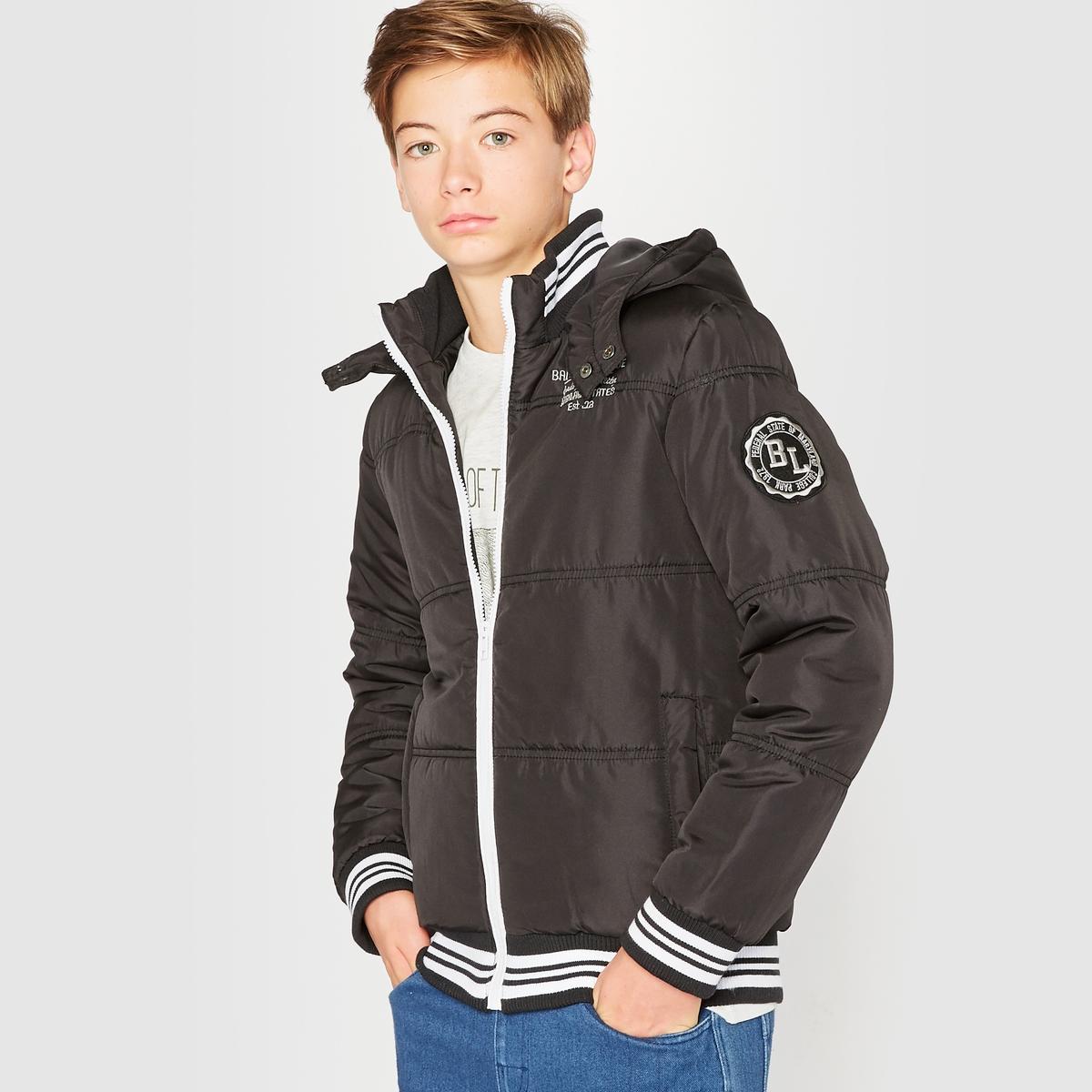Куртка стеганая с капюшоном, 10-16 лет от La Redoute