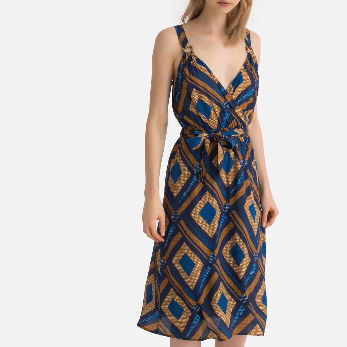 Платье La Redoute Без рукавов с графическим рисунком 34 (FR) - 40 (RUS) другие платье короткое с графическим рисунком без рукавов